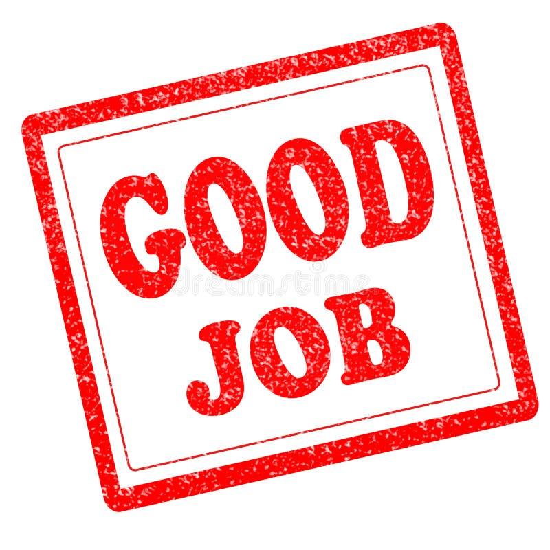Grunge rubberzegel met witte achtergrond van de tekst de goede baan stock illustratie
