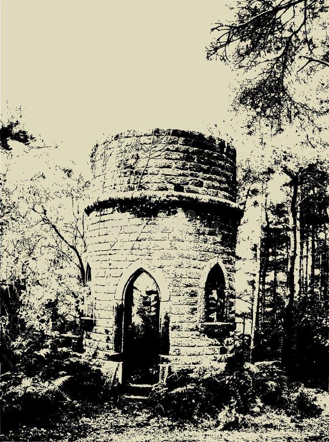 Grunge Ruinen lizenzfreie abbildung