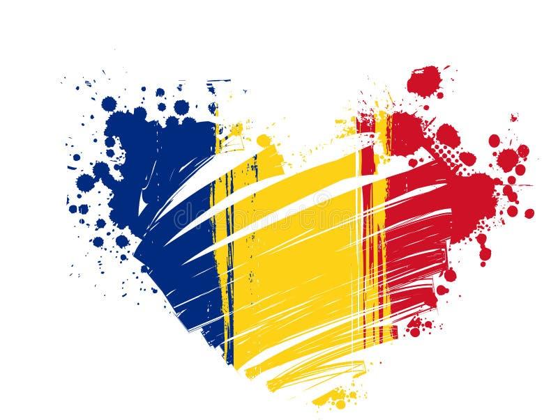 Grunge Rumänien Markierungsfahne vektor abbildung