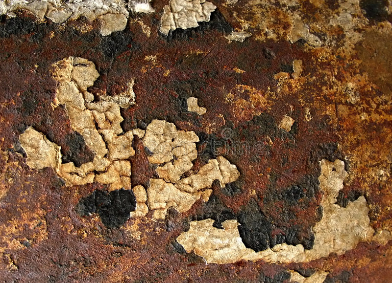 Grunge rust texture. For background from peeling street pole royalty free stock photo