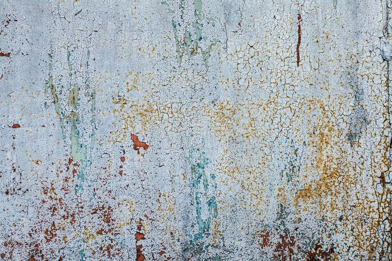 Grunge rusted metal texture, blue-gray oxidized metal background. Old metal iron panel. Blue-gray metallic rusty surface. The texture of the metal sheet is stock image