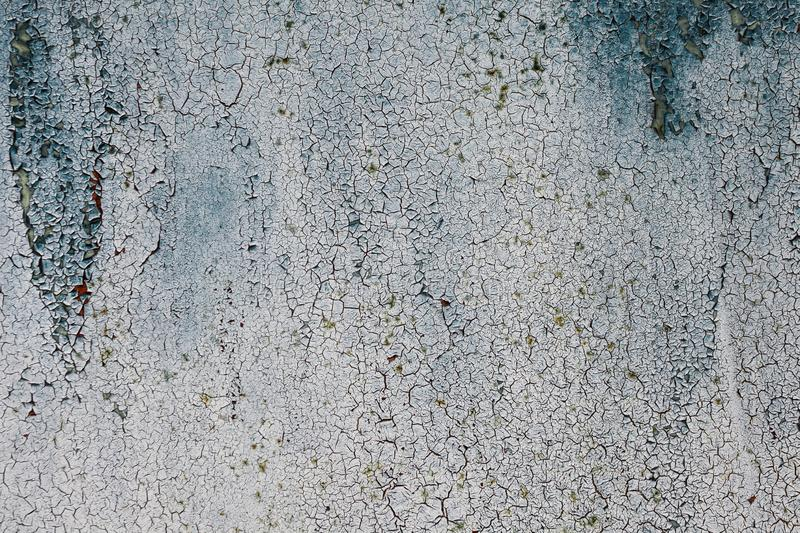 Grunge rusted metal texture, blue-gray oxidized metal background. Old metal iron panel. Blue-gray metallic rusty surface. The texture of the metal sheet is stock photo
