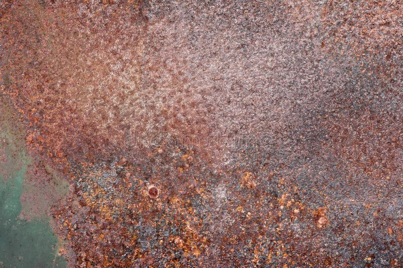 Grunge rusted metal texture, rust and oxidized metal background. Old metal iron panel royalty free stock photo