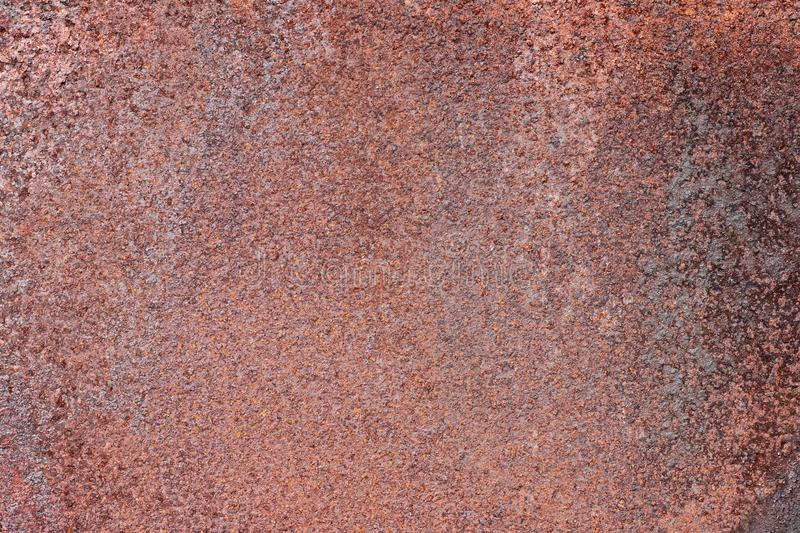 Grunge rusted metal texture, rust and oxidized metal background. Old metal iron panel royalty free stock photography