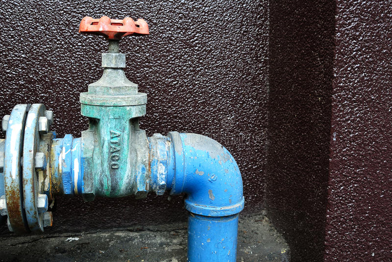 Grunge Rusty Industrial Tap Water Pipe And Valve Stock Photo - Image ...