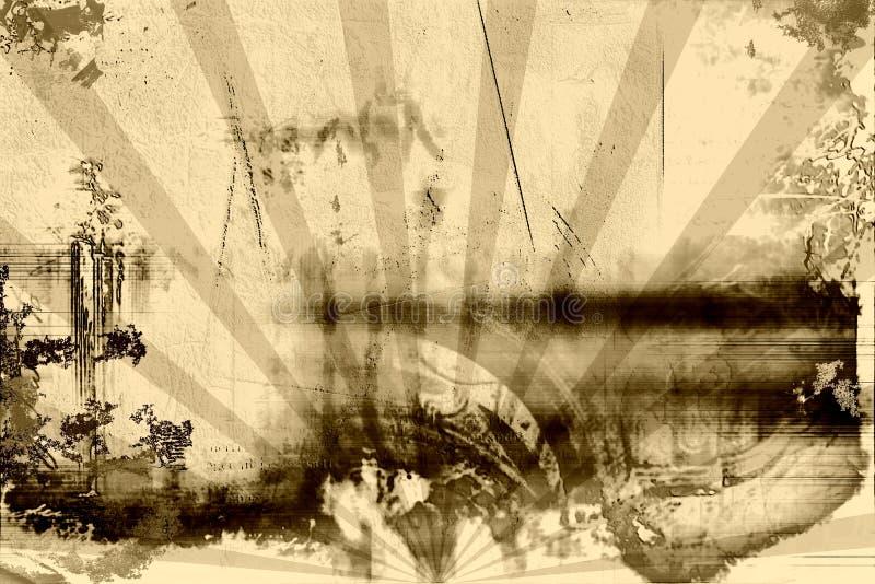 grunge rusty roczne ilustracja wektor
