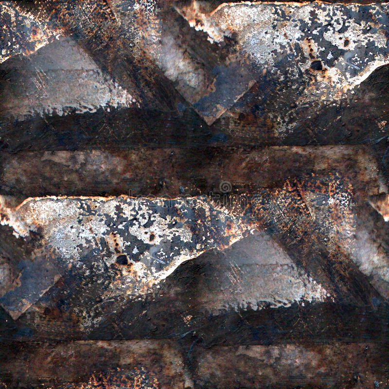 Grunge rusty seamless texture of iron with a place. Messages royalty free stock photography