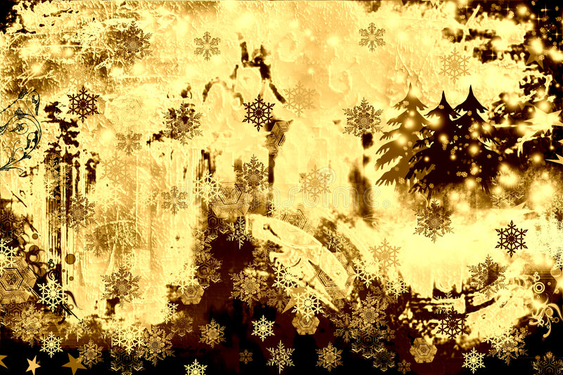 Grunge and rusty winter royalty free illustration