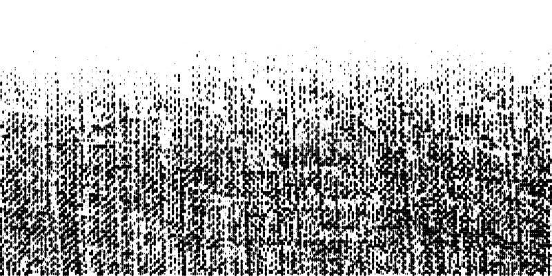 Grunge ruwe halftone textuur Verfrommelde jute canvas Textielachtergrond die halftone patroon van lijnpunten gebruiken Vector royalty-vrije illustratie