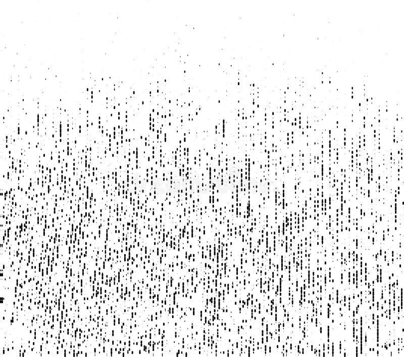 Grunge ruwe halftone textuur Verfrommelde jute canvas Textielachtergrond die halftone patroon van lijnpunten gebruiken Vector stock illustratie
