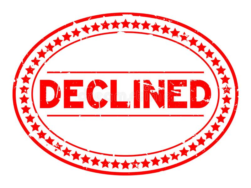 Grunge słowa foki czerwień obniżający owalny gumowy znaczek na białym tle royalty ilustracja
