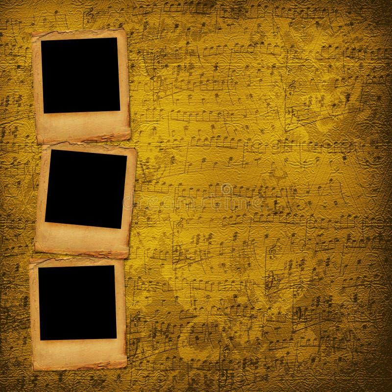 Grunge schiebt von den alten Papieren lizenzfreie abbildung