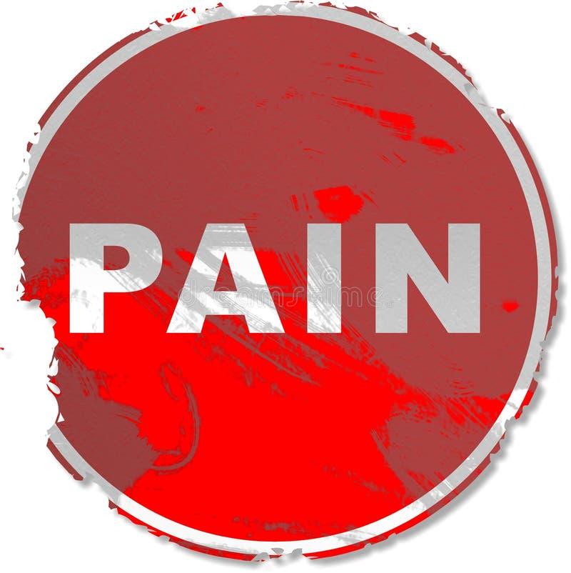 Grunge Schmerzzeichen vektor abbildung