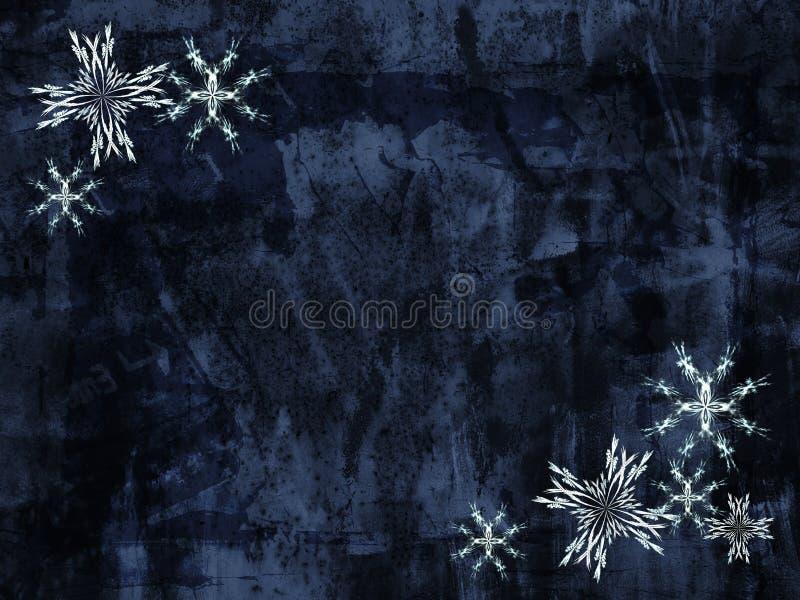 Grunge Schneeflockehintergrund lizenzfreie abbildung