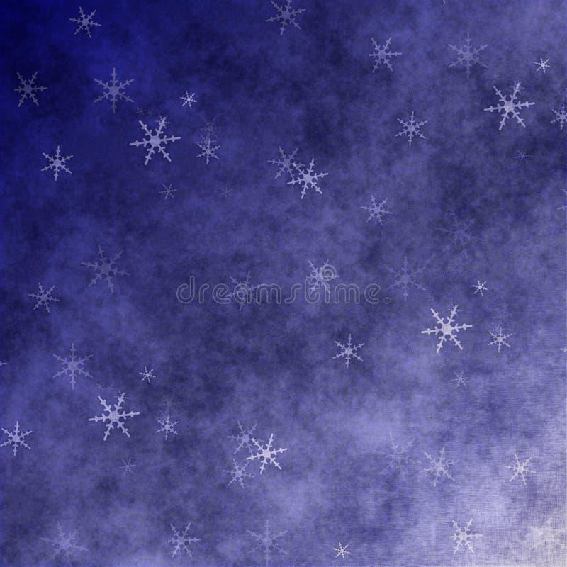 Grunge Schneeflocken stock abbildung