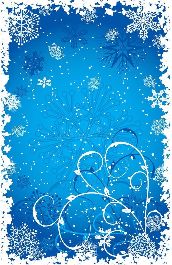 Grunge Schneeflocken Hintergrund, Vektor vektor abbildung