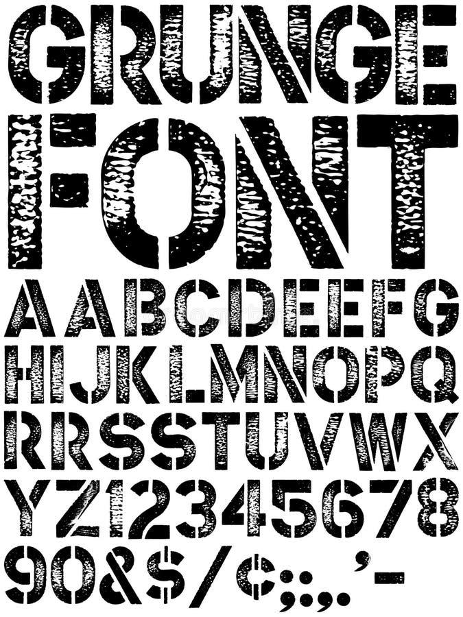 Grunge Schrifttyp stock abbildung