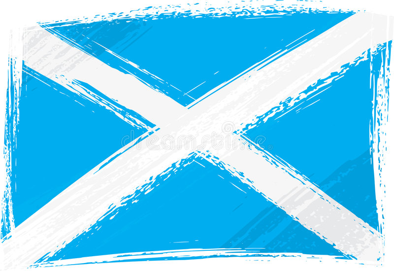 Grunge Scotland flag stock illustration