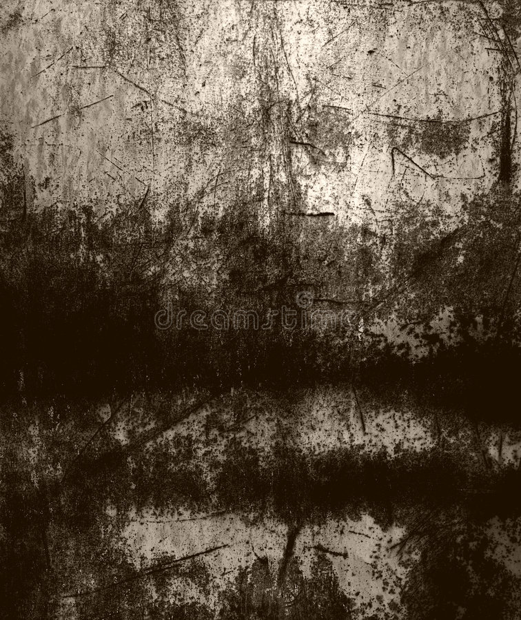 Grunge scratched metal. Texture in sepia stock images