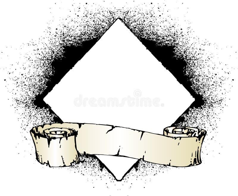 Grunge scroll vector illustration