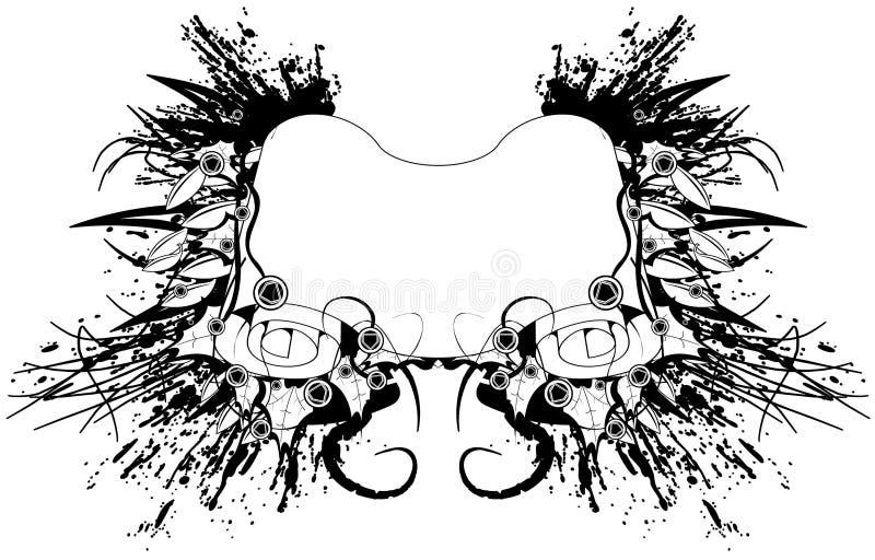 Grunge Scroll royalty free illustration