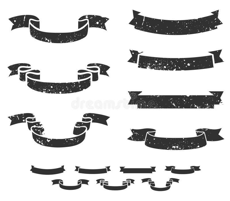 Grunge scrolls vector illustration