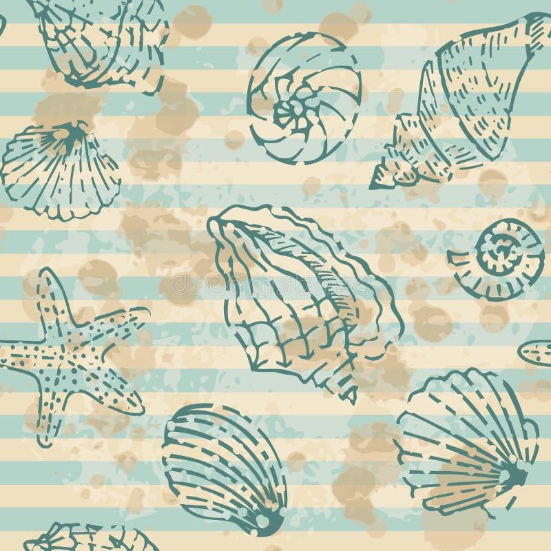 Grunge Sea Seamless pattern royalty free stock photos