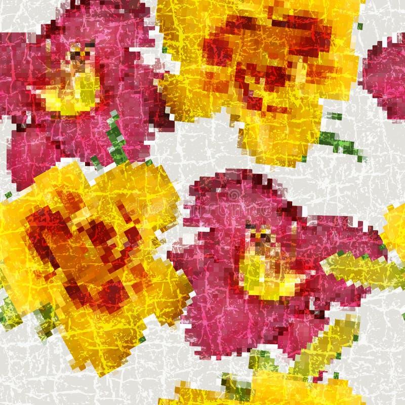 Free Grunge Seamless Floral Mosaic Pattern Stock Photography - 38630302
