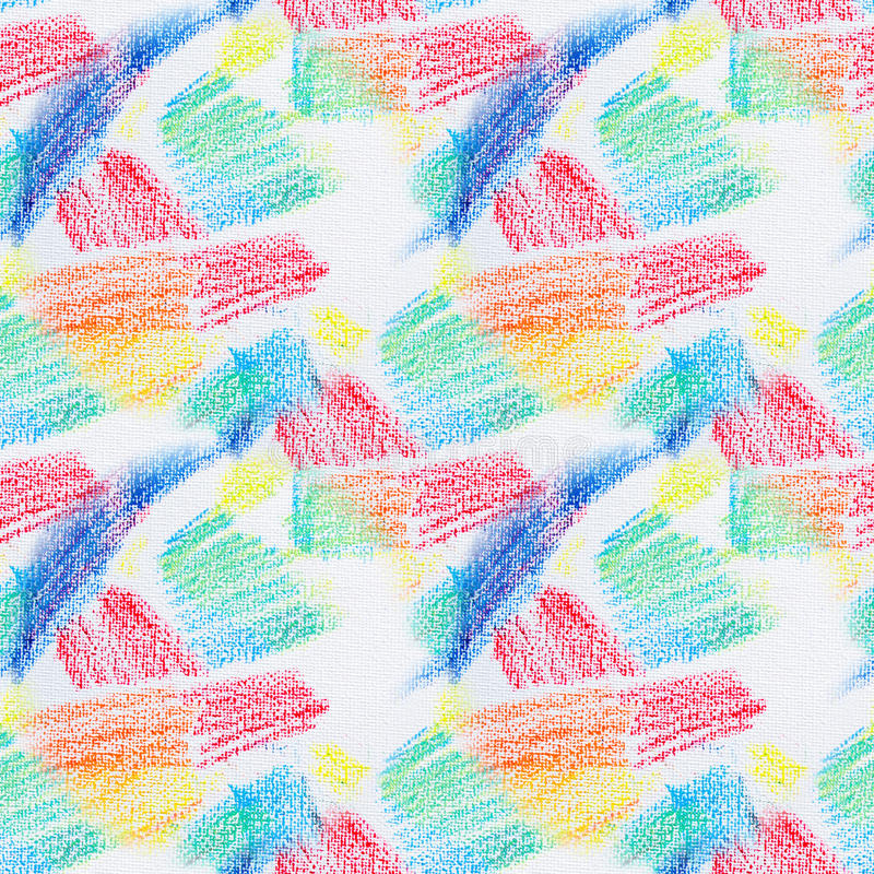 Grunge seamless texture of pastel strokes. Crayons seamless abstract grunge background. Design element. stock illustration