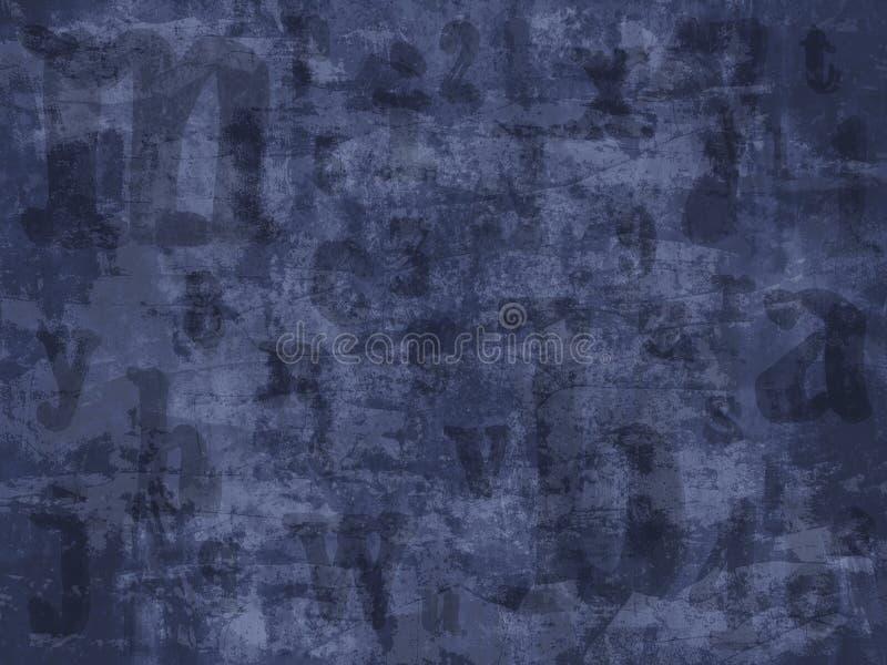 Grunge segna la priorità bassa con lettere illustrazione vettoriale