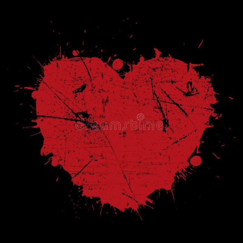 Grunge serca tło ilustracja wektor