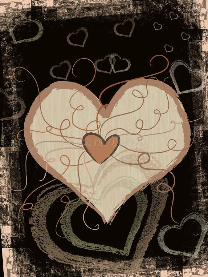 grunge serce ilustracji