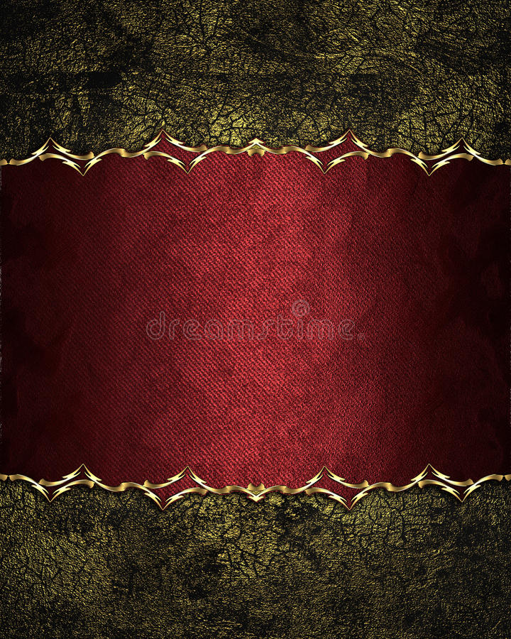 Grunge shabby old red background with an elegant plate. Element for design. Template for design. copy space for ad brochure or ann. Ouncement invitation stock image
