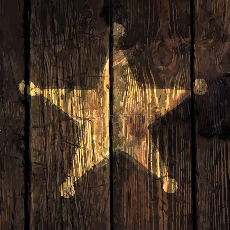 Grunge sheriff star illustration stock illustration