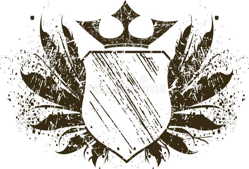 Grunge shield royalty free stock photos