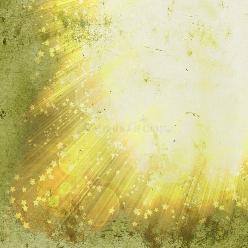 Grunge shining rays and stars. Of glare on a background royalty free illustration