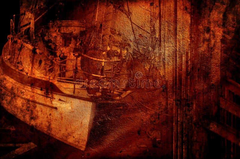 Grunge shipwreck fotografia royalty free