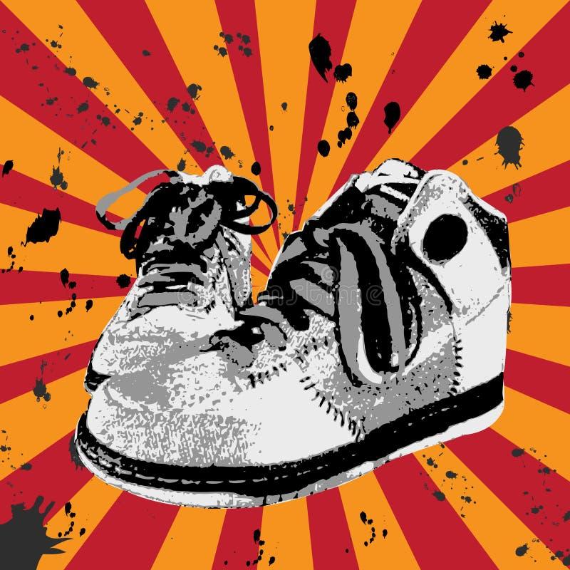 Grunge shoes royalty free stock image