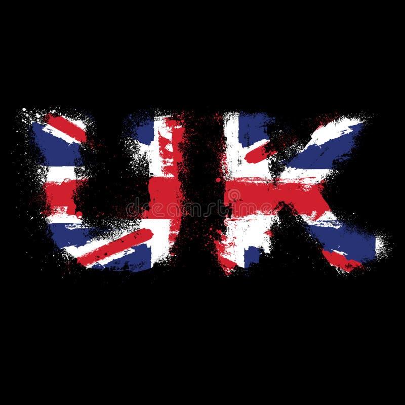 Download Grunge sign UK with flag stock illustration. Image of england - 28648374