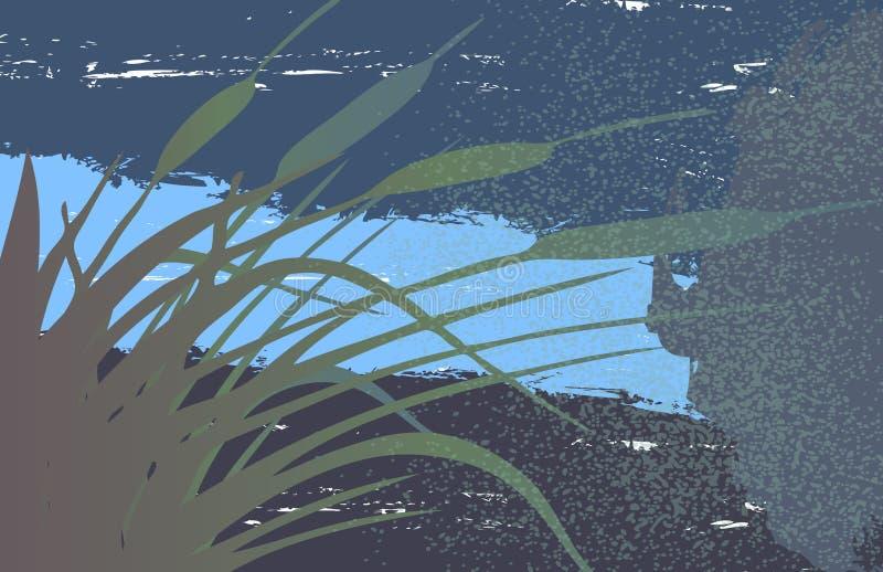 grunge sitowia tła ilustracji