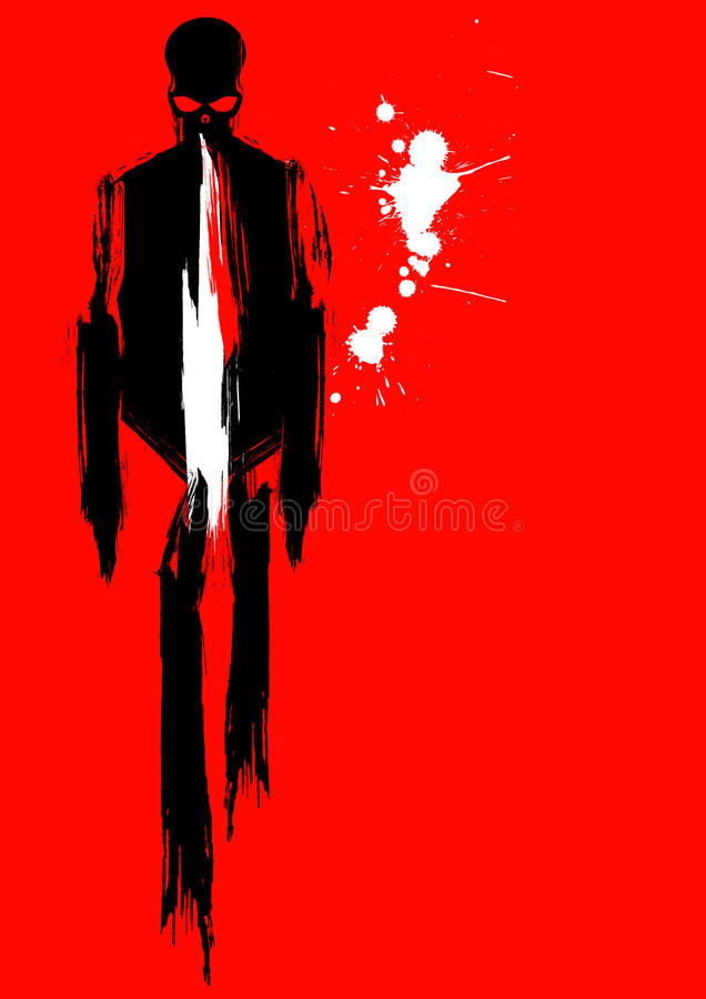 Grunge Skeleton In Suit Royalty Free Stock Photos