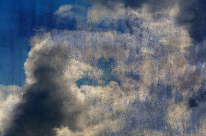 Grunge skies texture stock images