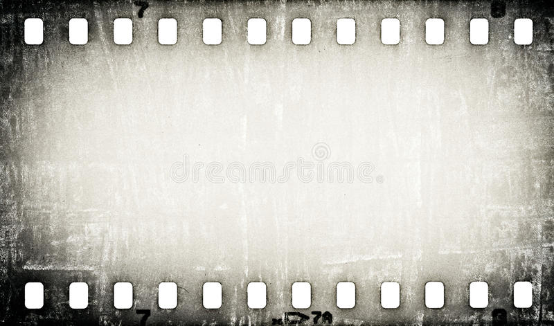 Grunge skrapad filmremsabakgrund stock illustrationer
