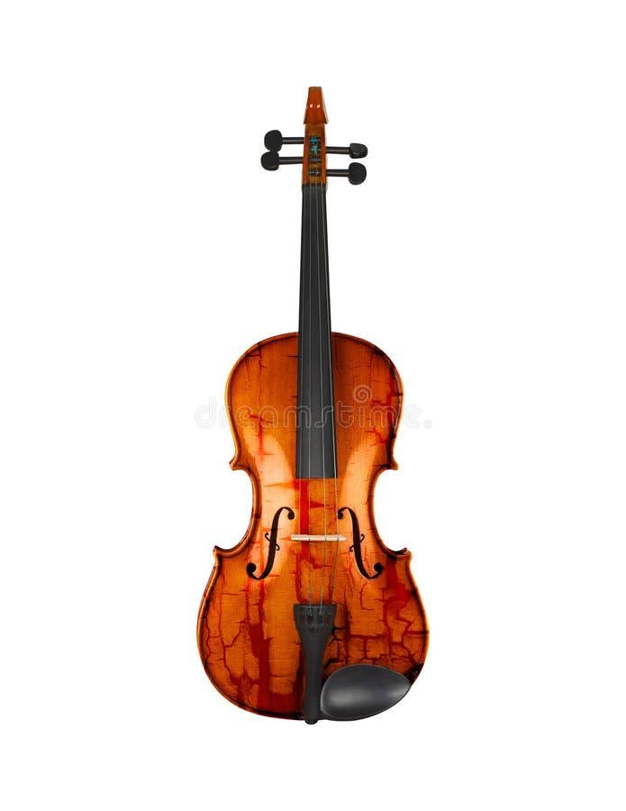Grunge skrzypce odizolowywający na bielu fotografia royalty free