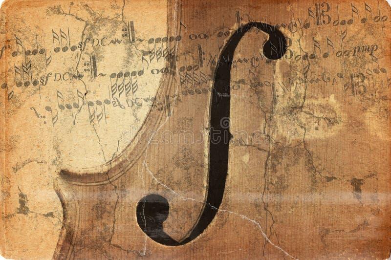grunge skrzypiec starej muzyki ilustracja wektor