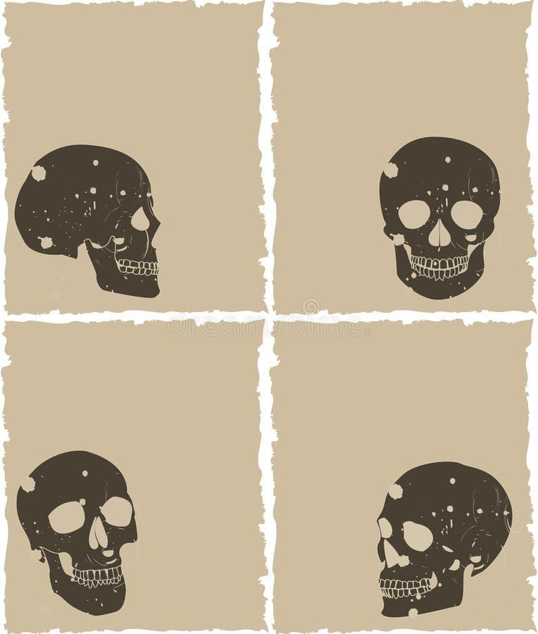 Grunge skull vector illustration