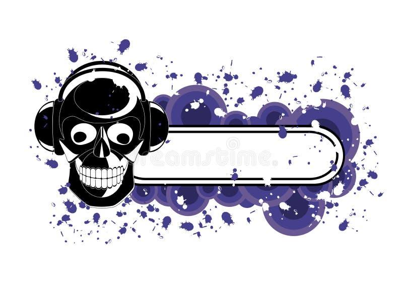 Download Grunge Skull Banner stock vector. Illustration of bliss - 4967243