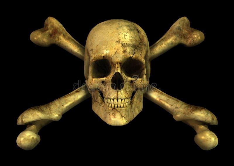 Grunge Skull Crossbones royalty free illustration