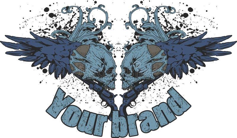 Grunge Skull Design Royalty Free Stock Photos