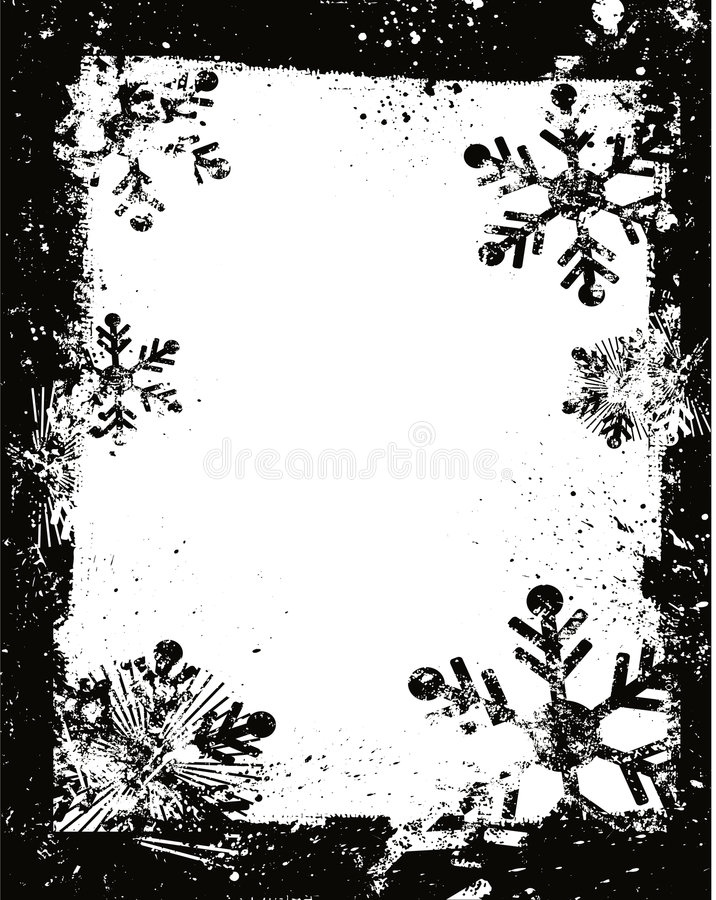 Download Grunge snowflakes stock vector. Illustration of holiday - 1485100